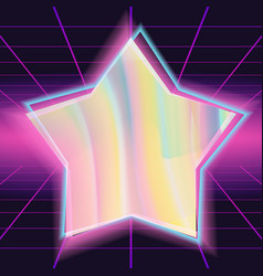80s background different colors hologram vector