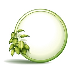 A round empty template with plants vector image