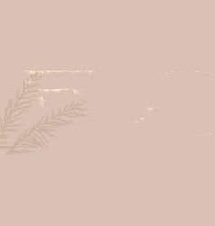 Abstract floral pastel dusty pink gold blush vector