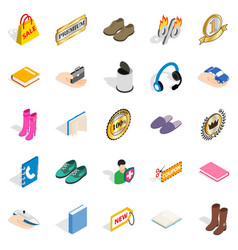 advertising campaign icons set isometric style vector image