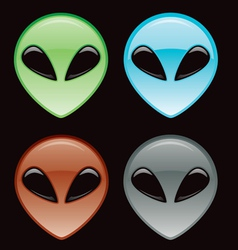 alien icon vector image