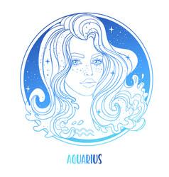 Aquarius astrological sign vector