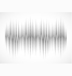 audio equalizer sound wave halftone background vector image