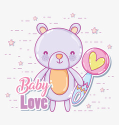baby love card vector image