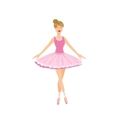 Balleria In Pink Tutu Performing vector