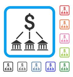 bank organization framed icon vector image
