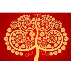 Bodhi tree vector image