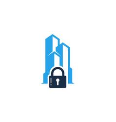 building security logo icon design vector image