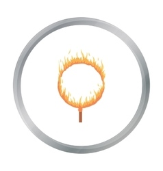 Burning hoop icon in cartoon style isolated on vector image
