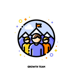 Business development or growth team icon vector