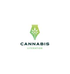 cannabis pen logo icon vector image
