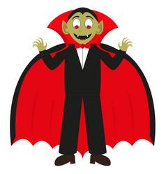 Cartoon vampire on a white background vector