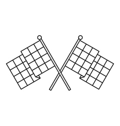 Chequered flags icon outline style vector image
