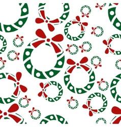 christmas garland seamless pattern vector image