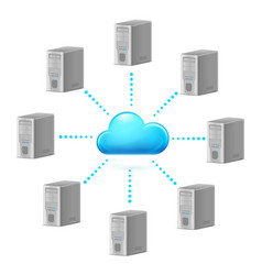 Cloud computing symbol for design on white vector