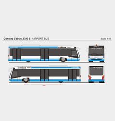 Contrac cobus 2700s airport passenger vector