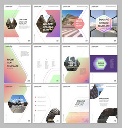 Creative brochure templates with hexagonal design vector