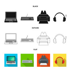 design laptop and device icon vector image