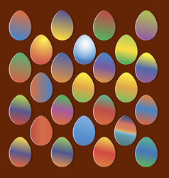 easter eggs for easter holidays design on colorful vector image