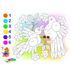 Educational page with exercises for children vector