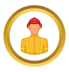 Firemen icon vector