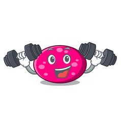 Fitness ellipse character cartoon style vector