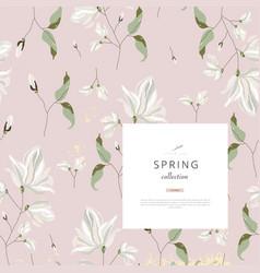 floral spring social media banner for advertising vector image
