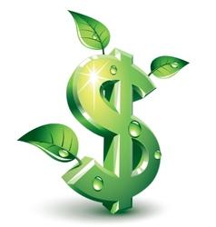 Flourishing dollar vector