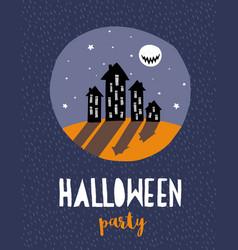 funny hand drawn halloween vector image