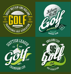 Golf trophy cup or bowl ball for t-shirt print vector