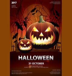halloween poster template design vector image