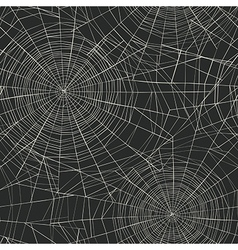 Halloween themed seamless pattern Spider web vector image