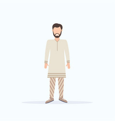 happy casual man standing pose smiling guy wearing vector image