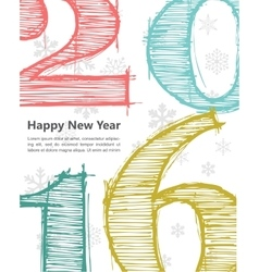 Happy new 2016 year Seasons Greetings vector image