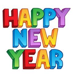 Happy new year big sign 1 vector