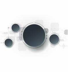 Hi-tech digital technology concept vector