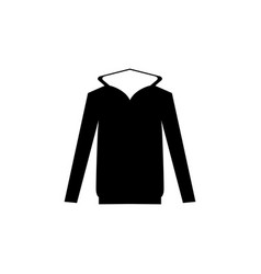 hooded sweater icon vector image