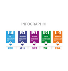 infographics timeline elements vector image