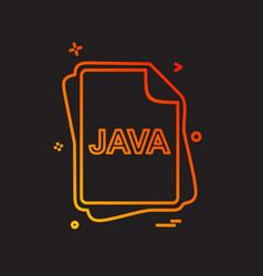 Java file type icon design vector