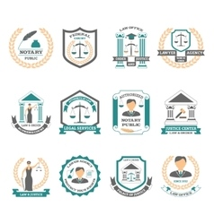 Lawyer logo set vector