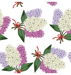 lilac bouquet pattern vector image