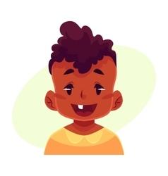 Little boy face wow facial expression vector image