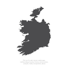 Map ireland isolated black vector
