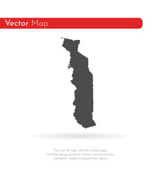 map togo isolated black on vector image