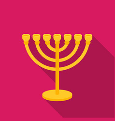 menorah icon in flat style isolated on white vector image