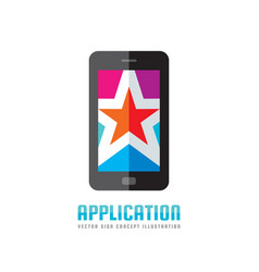 Mobile phone application - logo template vector