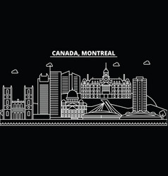 montreal silhouette skyline canada - montreal vector image