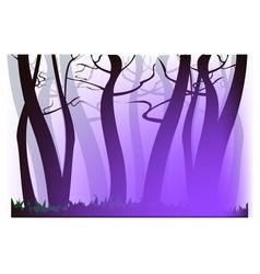 Morning purple haze vector image