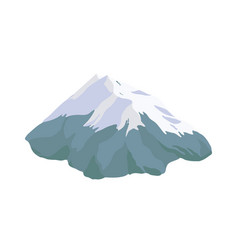 Mountain peak top or summit covered with snow vector