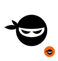 Ninja warrior head icon vector
